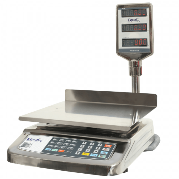 EQUAL Price Computing PC /SS-3/ 3 Window/G Weighing Scale, 10/20/30kg, 1/2/5g